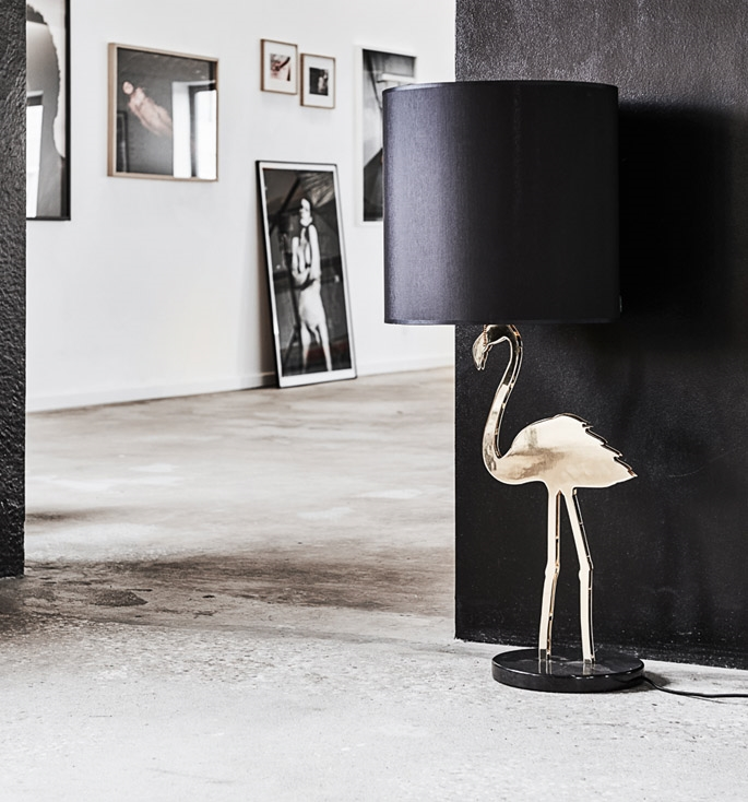 Crazy Flamingo bordlampe / gulvlampe