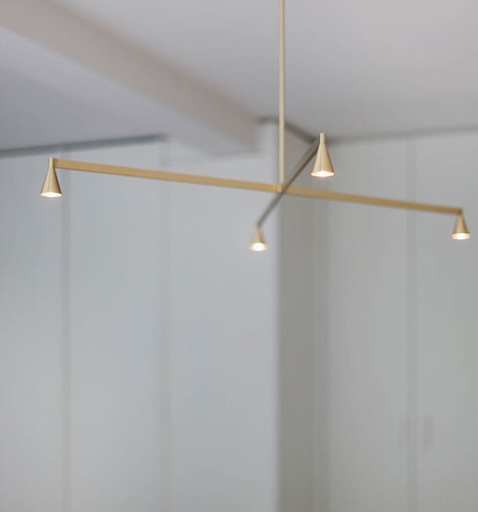 Austere Chandelier 1X, messing, 500