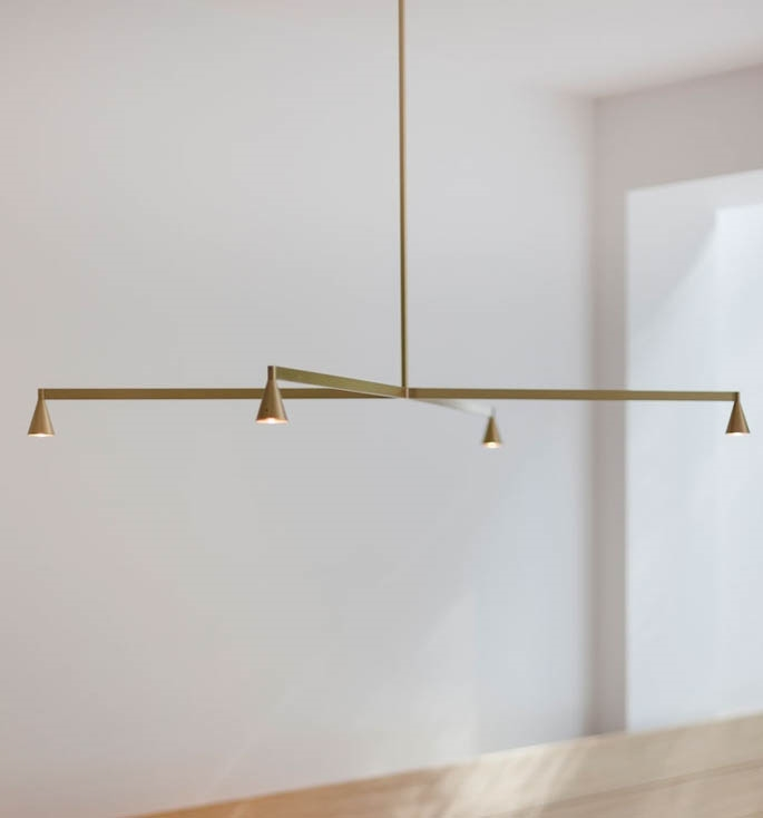 Austere Chandelier 1X, messing, 250